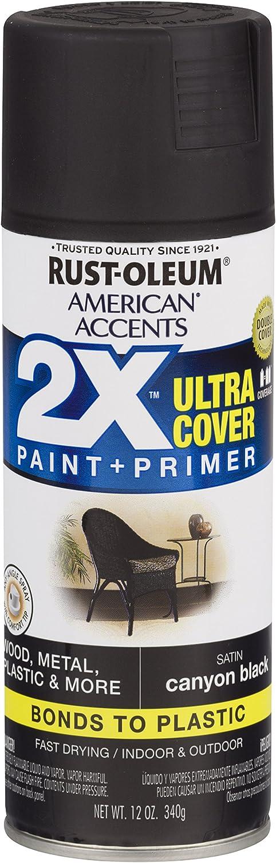 Rust-Oleum 327916 American Accents Spray Paint, 12 oz, Satin Canyon Black