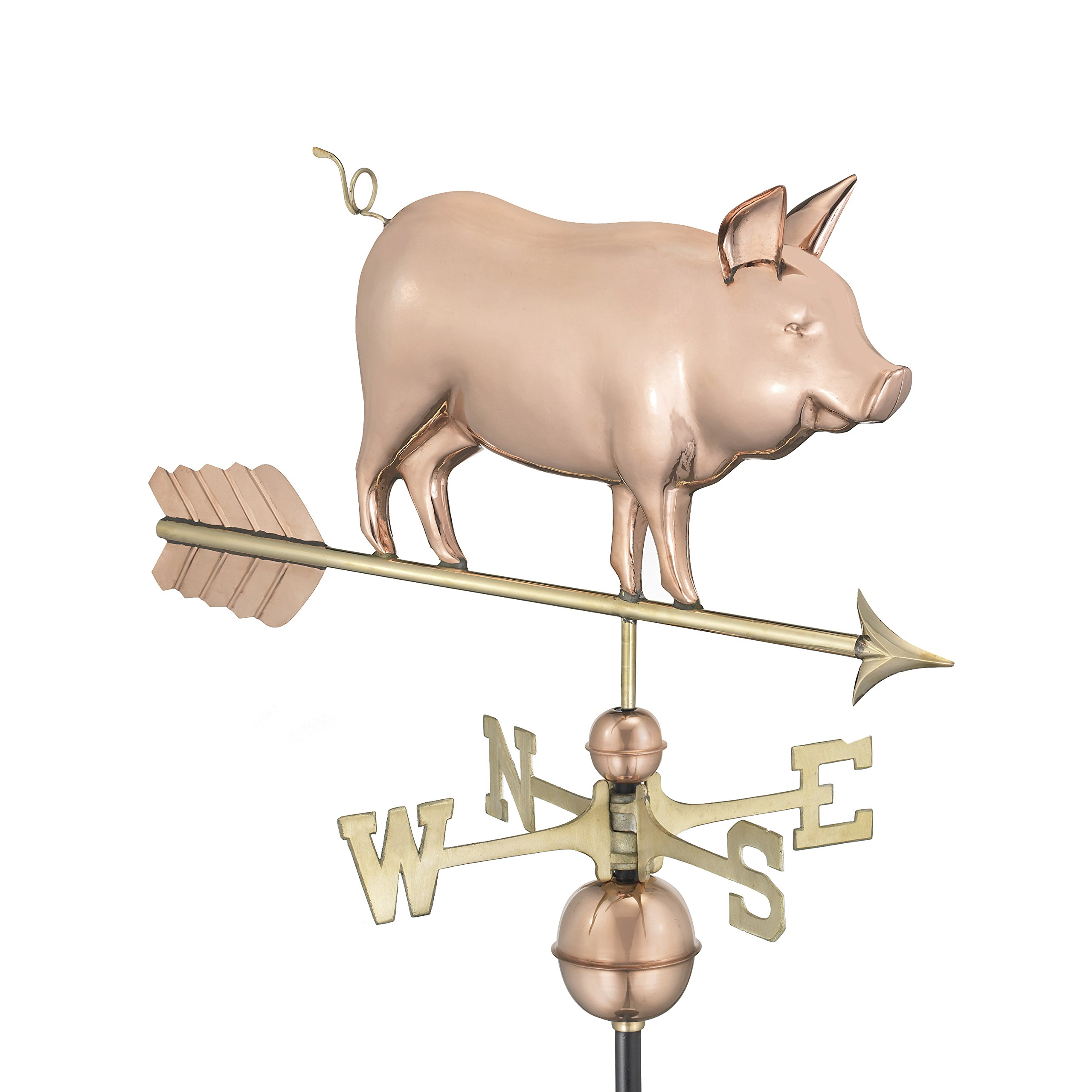 Good Directions Country Pig Weathervane, Pure Copper