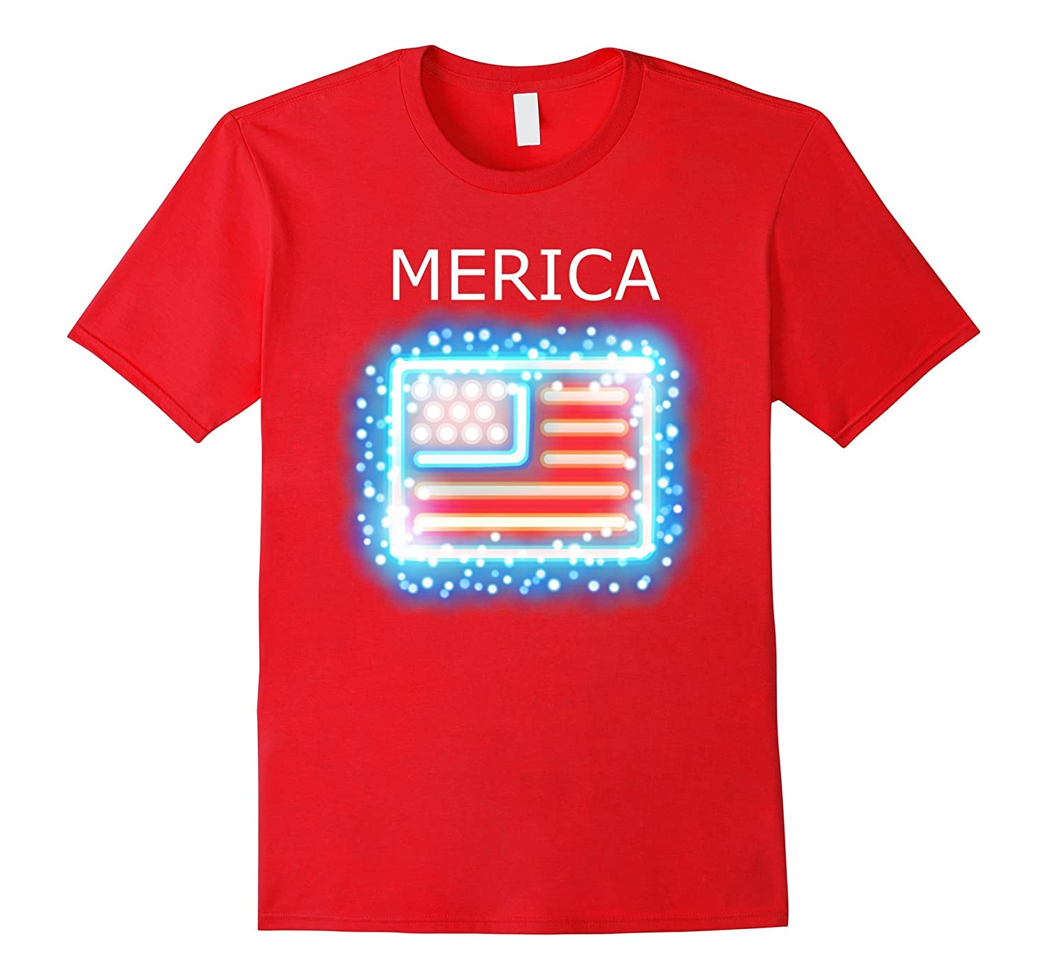 Merica USA Flag 4th of July Veterans Day Tee Shirt Men Women-Art