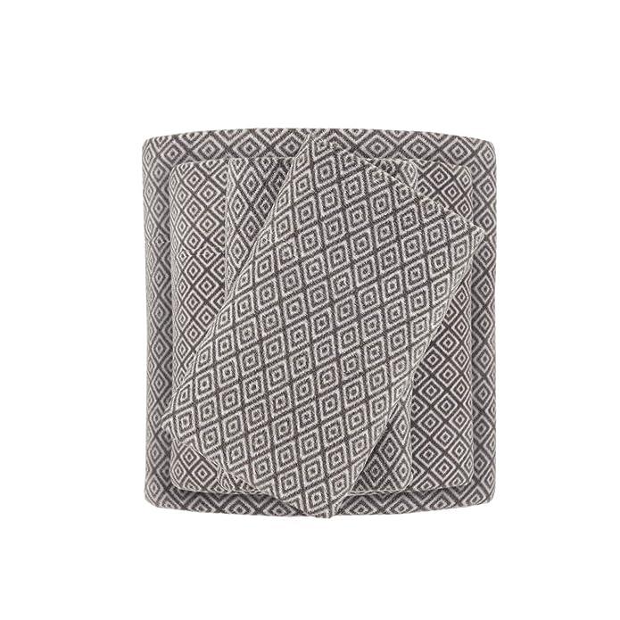 Micro Fleece Diamond Sheet Set (King) Gray