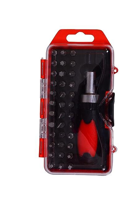 Visko VT9905 Ratchet Handle Screw Driver Set (Red, 38-Pieces)