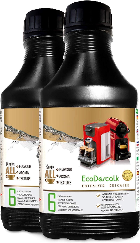 EcoDescalk, 2 x 500 ml. Descalcificador para todas las cafeteras ...