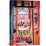 iCanvasART Open Window at Collioure Canvas Art Print by Henri Matisse, 18 by 12-Inch
