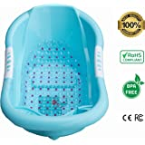 Luxurious Baby Bathtub w/Anti-Slip Armrests & BPA-Free Design | Infant & Toddler Bath Tub Made of Eco-Friendly, Food-Grade Material| Comfortable Back Support | Sturdy & Safe
