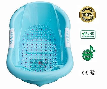 Bañera para bebé, hecha de material respetuoso con el medio ambiente, sin BPA y