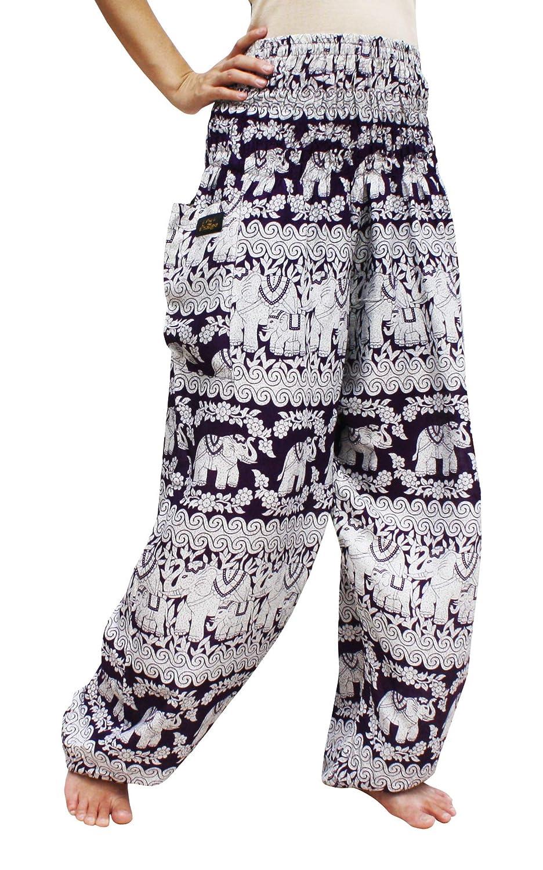 RaanPahMuang Brand Smock Waist Rayon Mixed Art Harem Baggy Aladdin Pants variant58410AMZ