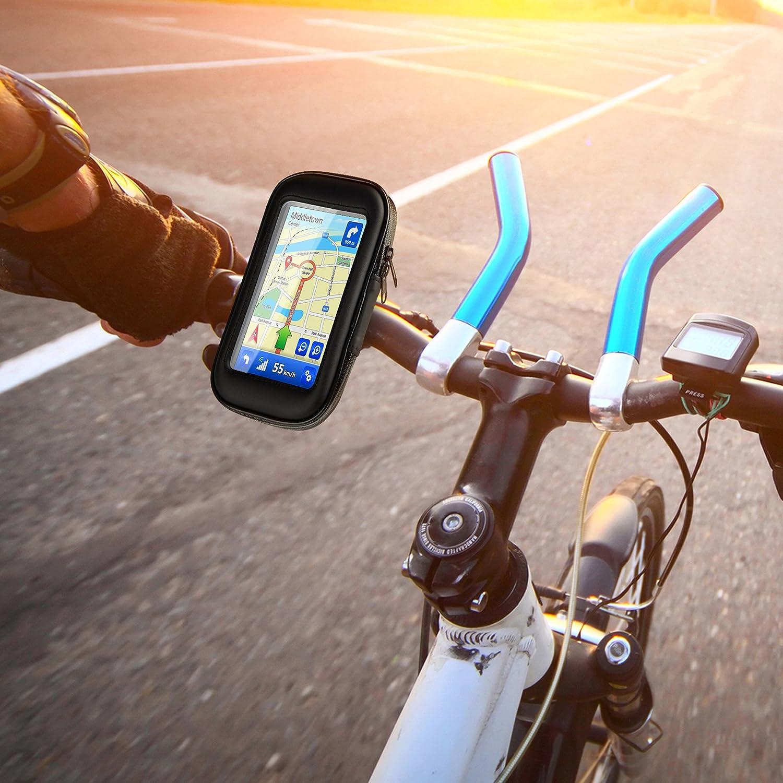 Sony iPhone in der Gr/ö/ße Large GPS-Ger/äte etc HTC Navi LG OKCS Lenkradhalterung L Huawei Bike Holder Fahrradhalterung universale Wasserdichte Tasche f/ür Smartphones wie Samsung