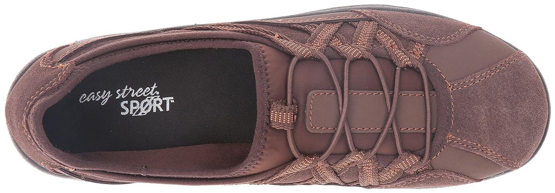 Easy Street Women's Laurel Flat B01JU8K20U 12 B(M) US|Brown Leather/Suede Leather