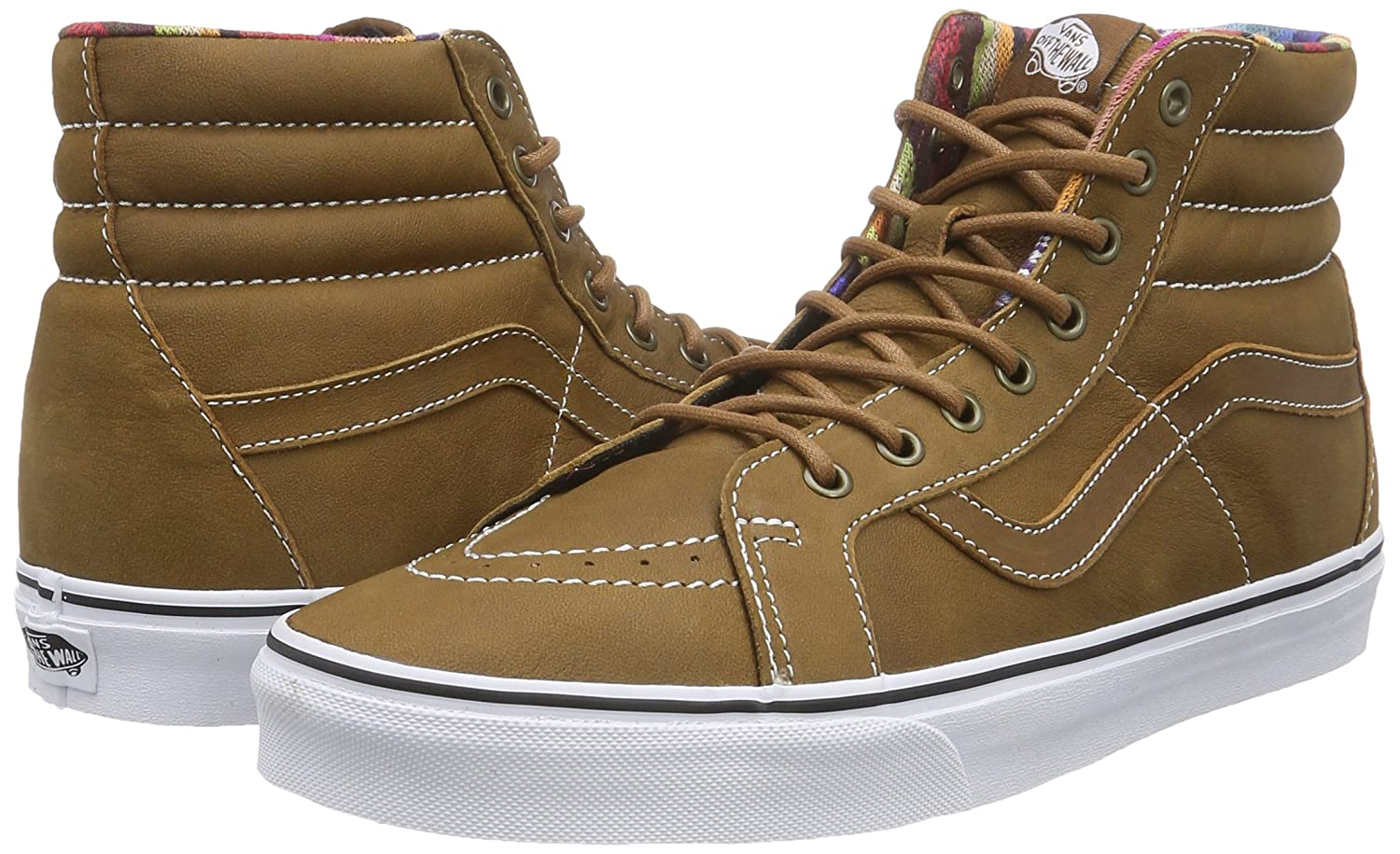 VANS MENS SK8 HI REISSUE LEATHER SHOES B00WVUCLLS 10 M US Women / 8.5 M US Men|Brown/Guate