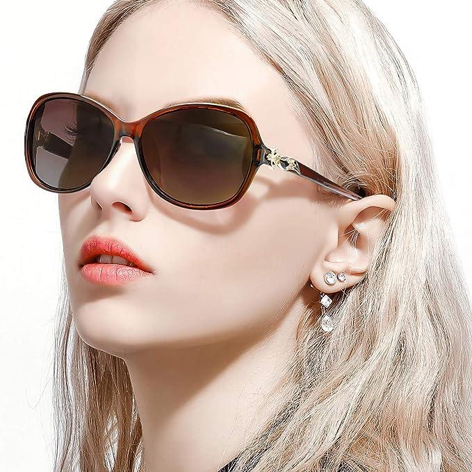 FIMILU Gafas de sol Polarizadas Para Mujeres, Gafas de sol con Estilo de Protección UV400