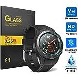 huawei watch 2 Protector de pantalla,KuGi huawei watch 2 - Alta Calidad 9H dureza HD despejan la huawei watch 2 vidrio templado para el reloj inteligente.(2 paquete)