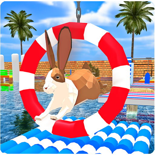 Poly Art Rabbit Stunts Simulator (Racing Rabbits)