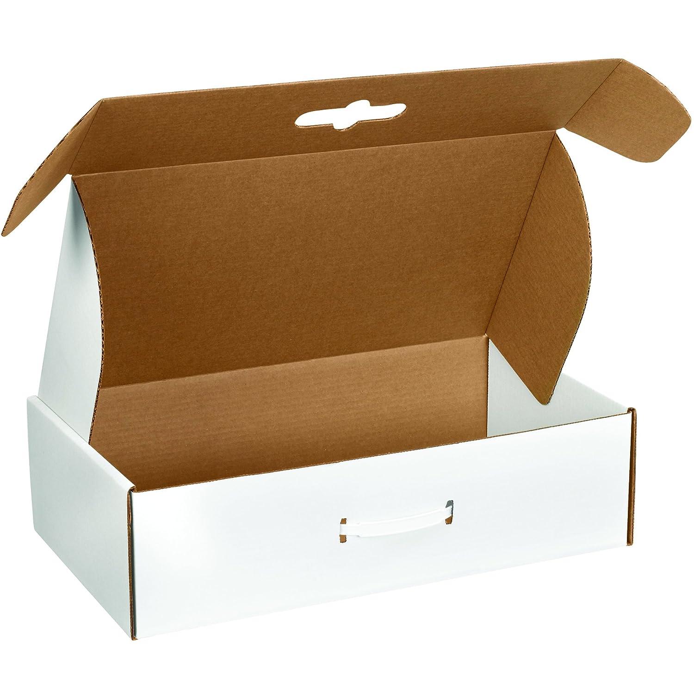 Boxes Fast BFMCC4 - Caja de cartón para envíos de cartón, 45,72 x 27,94 x 10,16 x 10,16 cm, cajas troqueladas corrugadas con asas, grandes cajas de correo ...
