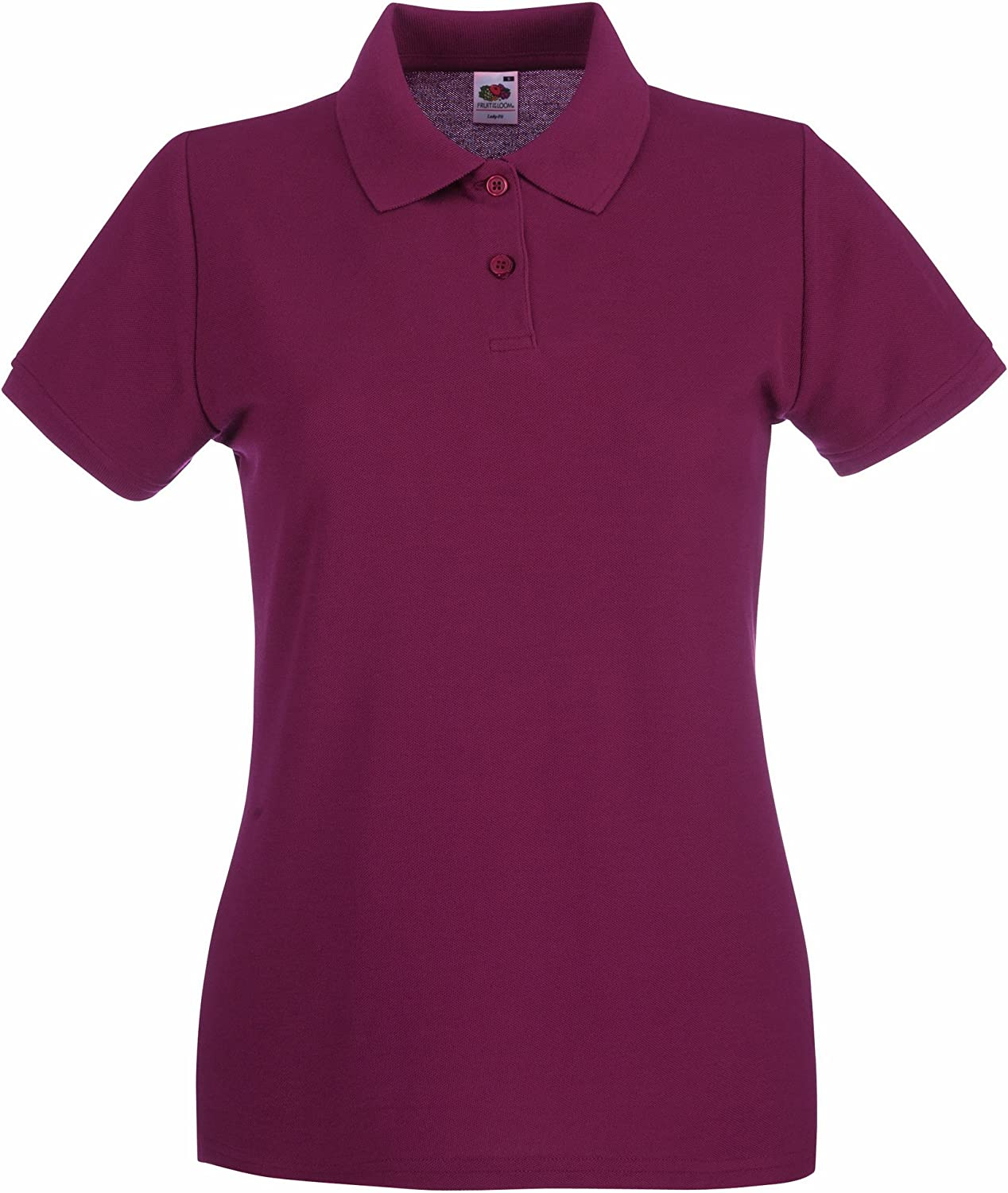 Fruit Of The Loom Donna Polo 100/% Cotone S Bianco