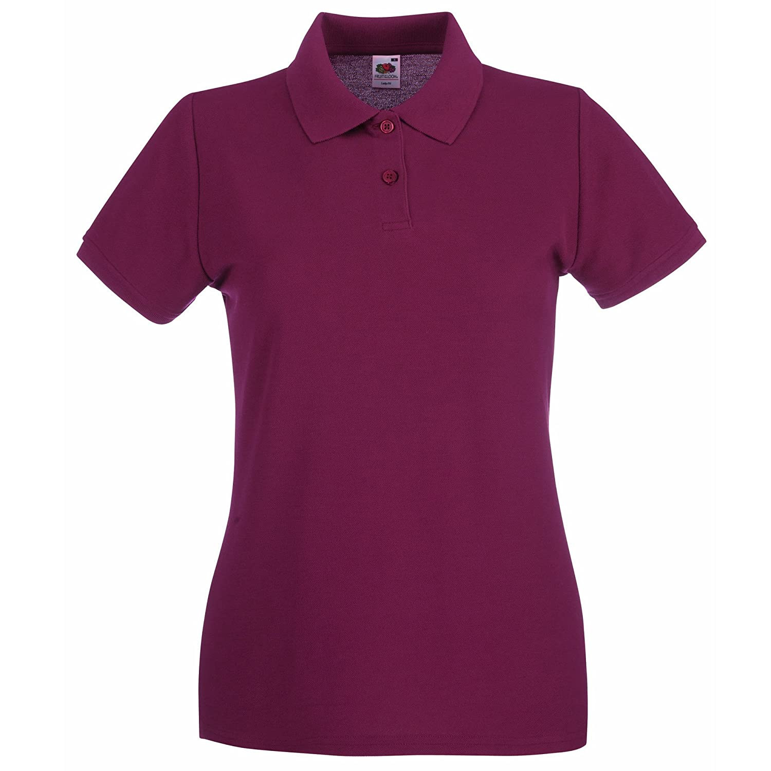 TALLA M. Fruit of the Loom Premium Lady-Fit, Polo para Mujer