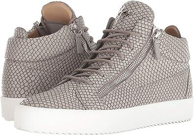dae1d5a3d Giuseppe Zanotti Men s May London Croc Print Mid Top Sneaker Grey 41 ...