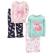 953e60f51b0 Simple Joys by Carter s Baby Girls  Toddler 4 Piece Pajama Set