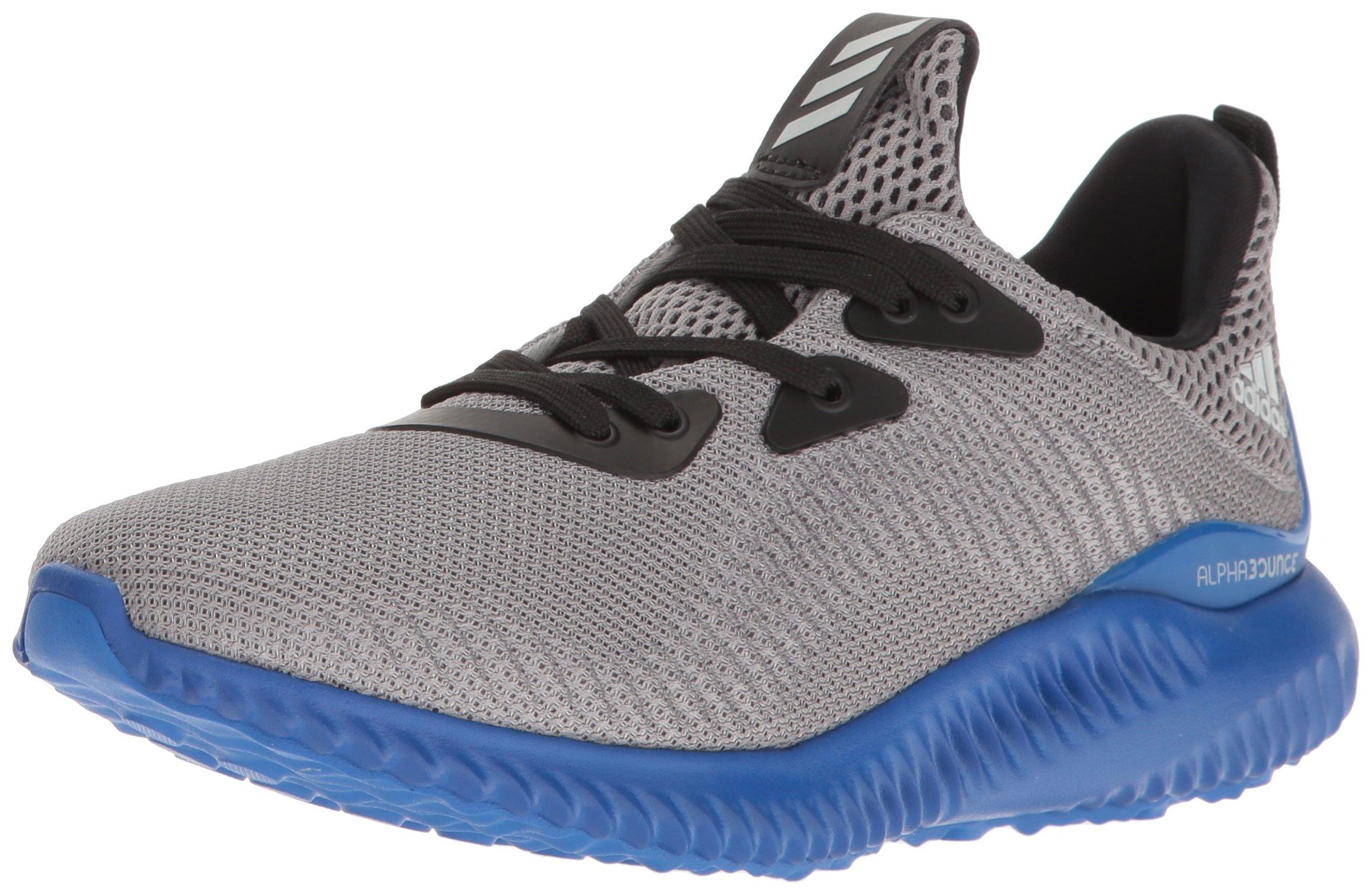 adidas Performance Boys' Alphabounce j Running Shoe, Grey/Light Onix/Blue, 6.5 M US Big Kid by adidas