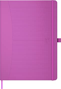 A4 Hardback Notebook Casebound Journal Notepad 160 Page Ruled Lined Paper Office