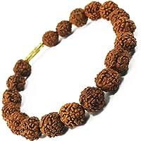Zonarwood 100% Original Rudraksha Bracelet Nepali 5 Mukhi (6mm) daily Wear for Men Women