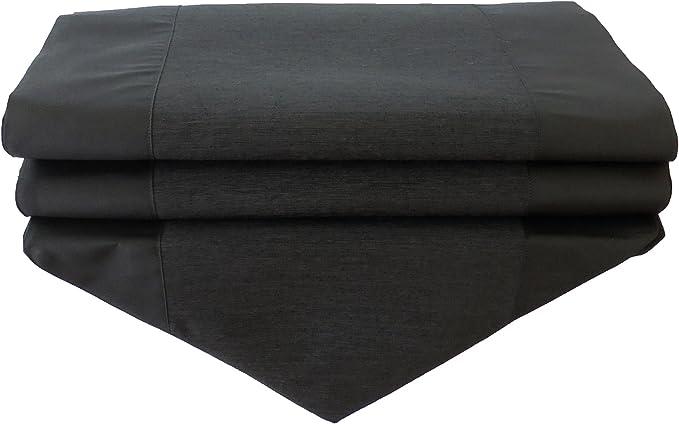 by soljo - negro mesa de mantel de lino camino de mesa corredor ...