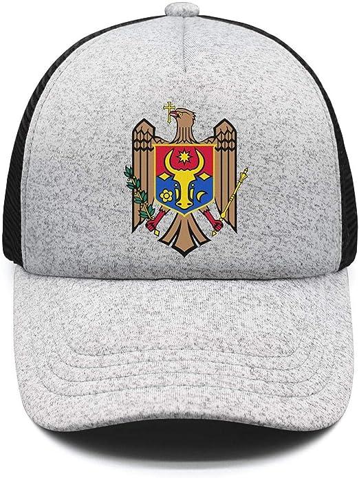 Kids Girl Against Elk Printed Baseball Cap Hat Adjustable Mesh Trucker Hats for Boys Girls