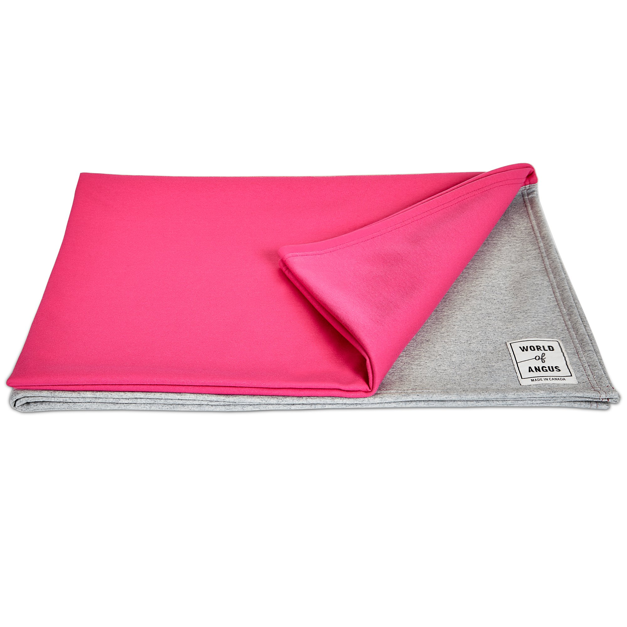 The Dog Blanket by World of Angus (Grey/Pink/Grey, Large)