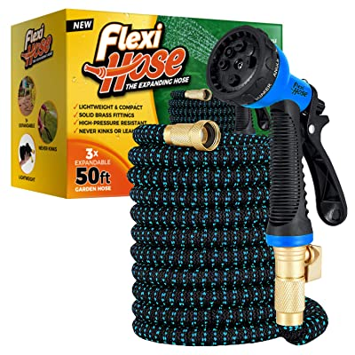 Hose Pipe for Watering and Washing Plump Tiger Garden Hose with Durable Double-Layers Latex 25FT Expandable Water Hose with 3//4 Solid Brass Connectors and 10 Function Zinc Spray Nozzle
