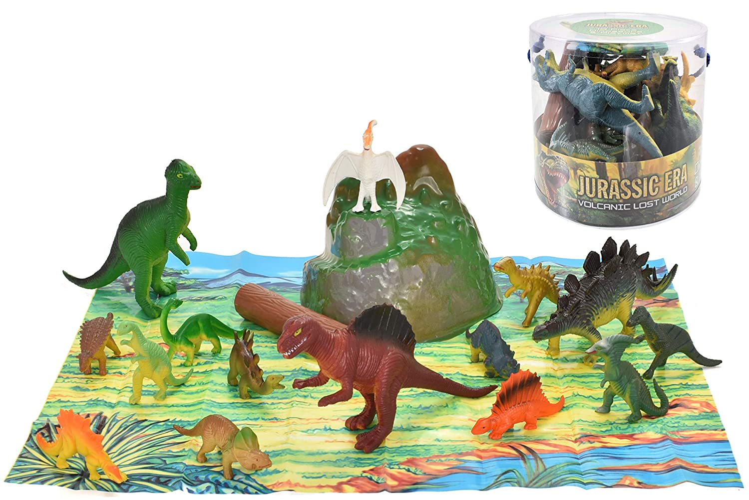 18 Piece Dinosaurs In Tub Kandy Toys TY660