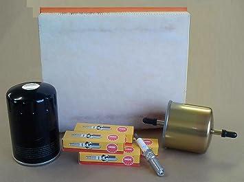 Kit sericios NGK Fram/Purflux con filtro del aire, aceite, combustible y 4 bujías para Ford Ka 1.3 Duratec Motor 02 – 09 : Amazon.es: Coche y moto