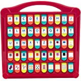 "Battat BT2532Z Hide & Seek Alphabet Preschool Learning Toy For Kids, 13"" (Large) x 11.6"" (W) x 1.5"" (H), Red - Lime - Sea - Coral"