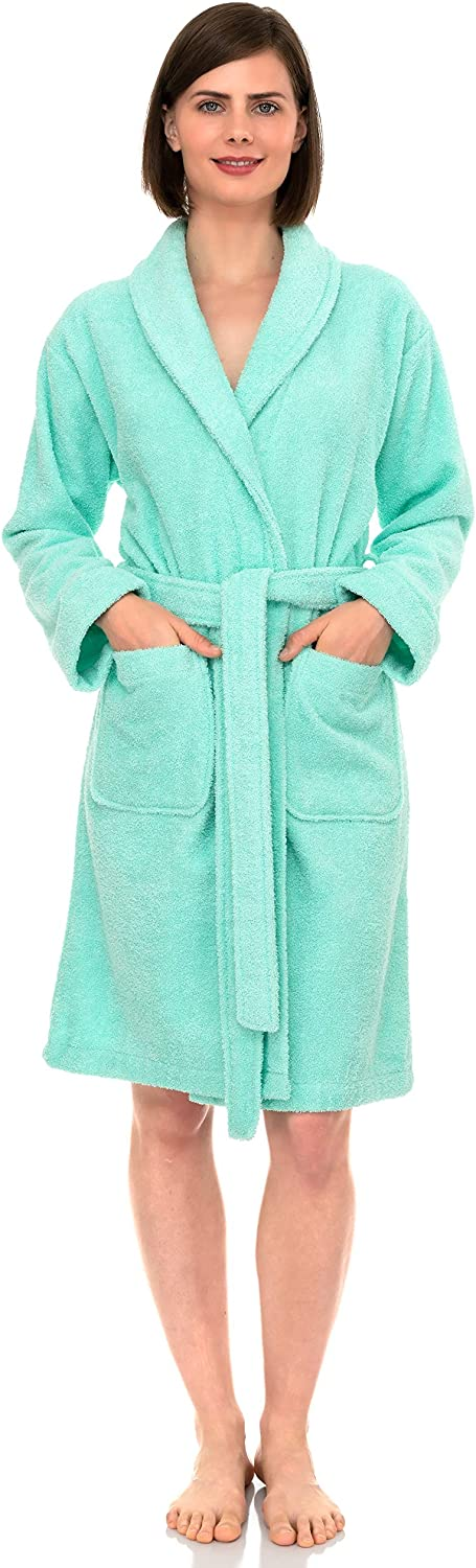 TowelSelections Womens Robe Turkish Cotton Short Terry Bathrobe Made in Turkey
