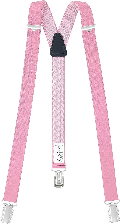 verschiedene Farben Xeira Hochwertige Unisex Hosentr/äger 25mm Breit mit 3 stabilen Clips f/ür Damen und Herren