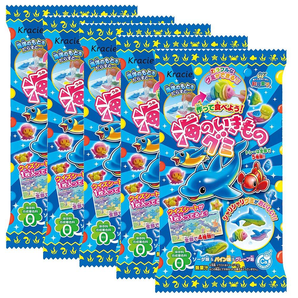 Creatures Of The Sea Gu-mmy Set Japaneese DIY Candy 5pcs Kracie Children Snack Food Ninjapo