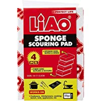 LIAO OCN-072 Sponge with Scouring Pad (Pack of 4)
