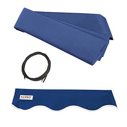 competitive price 60f08 91a27 Aleko FAB16X10BLUE30 Fabric Replacement for Retractable ...