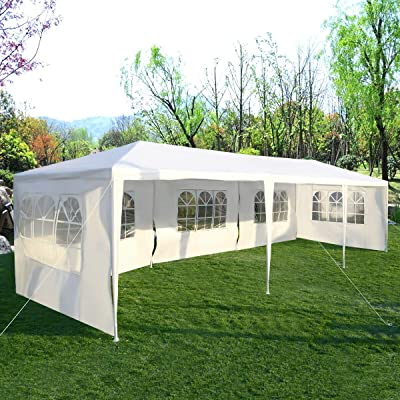simplyUSAhello 10' x 30' Outdoor Party Wedding 5 Sidewall Tent Canopy Gazebo : Garden & Outdoor
