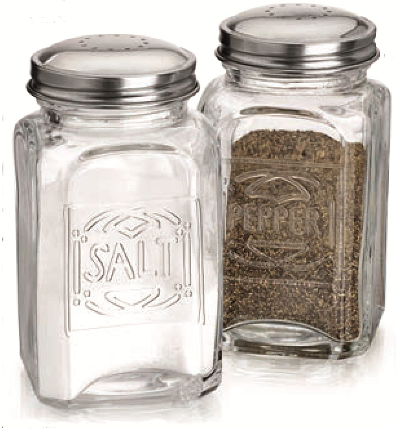 amazoncom home essentials  beyond  lifestyle embossed salt  - amazoncom home essentials  beyond  lifestyle embossed salt  peppershaker kitchen  dining