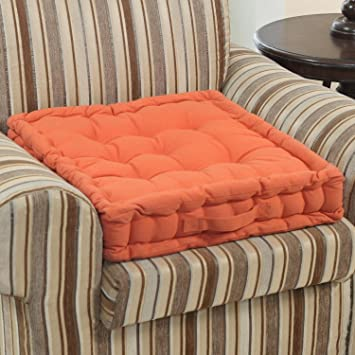 Homescapes Terracotta Supportive Armchair Booster Cushion With