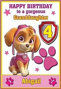Personalizado Paw Patrol inspirado en tarjeta de