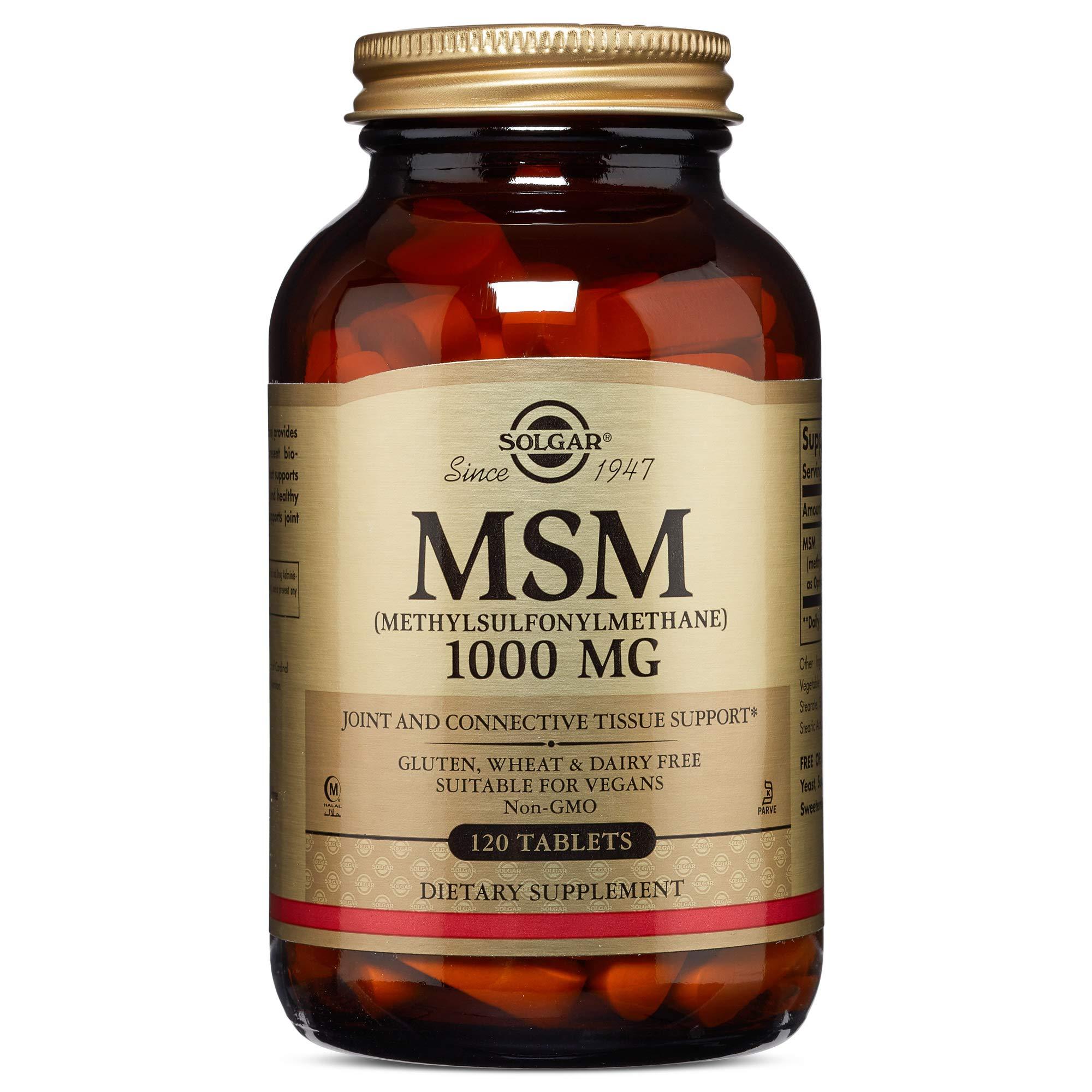 Solgar - MSM 1000 mg, 120 Tablets