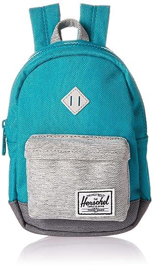 86b67fd0a44 Herschel Kids  Heritage Mini Children s Backpack Tile Blue Light Mid Grey  Crosshatch