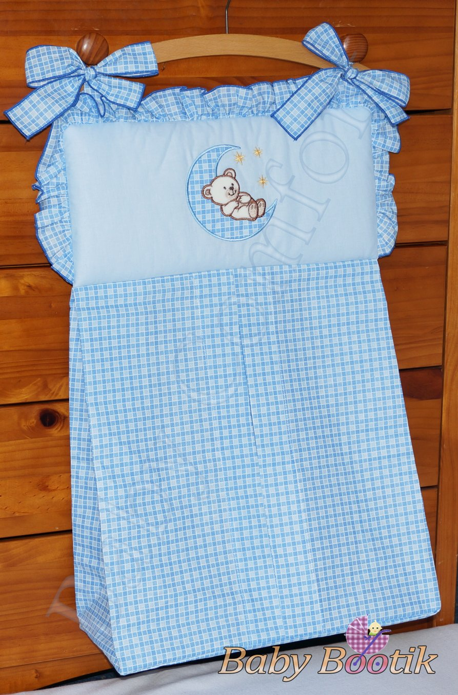 NAPPY STACKER/DIAPER BAG MATCH BABY NURSERY COT/COT BED BEDDING - MOON BLUE Babycomfort