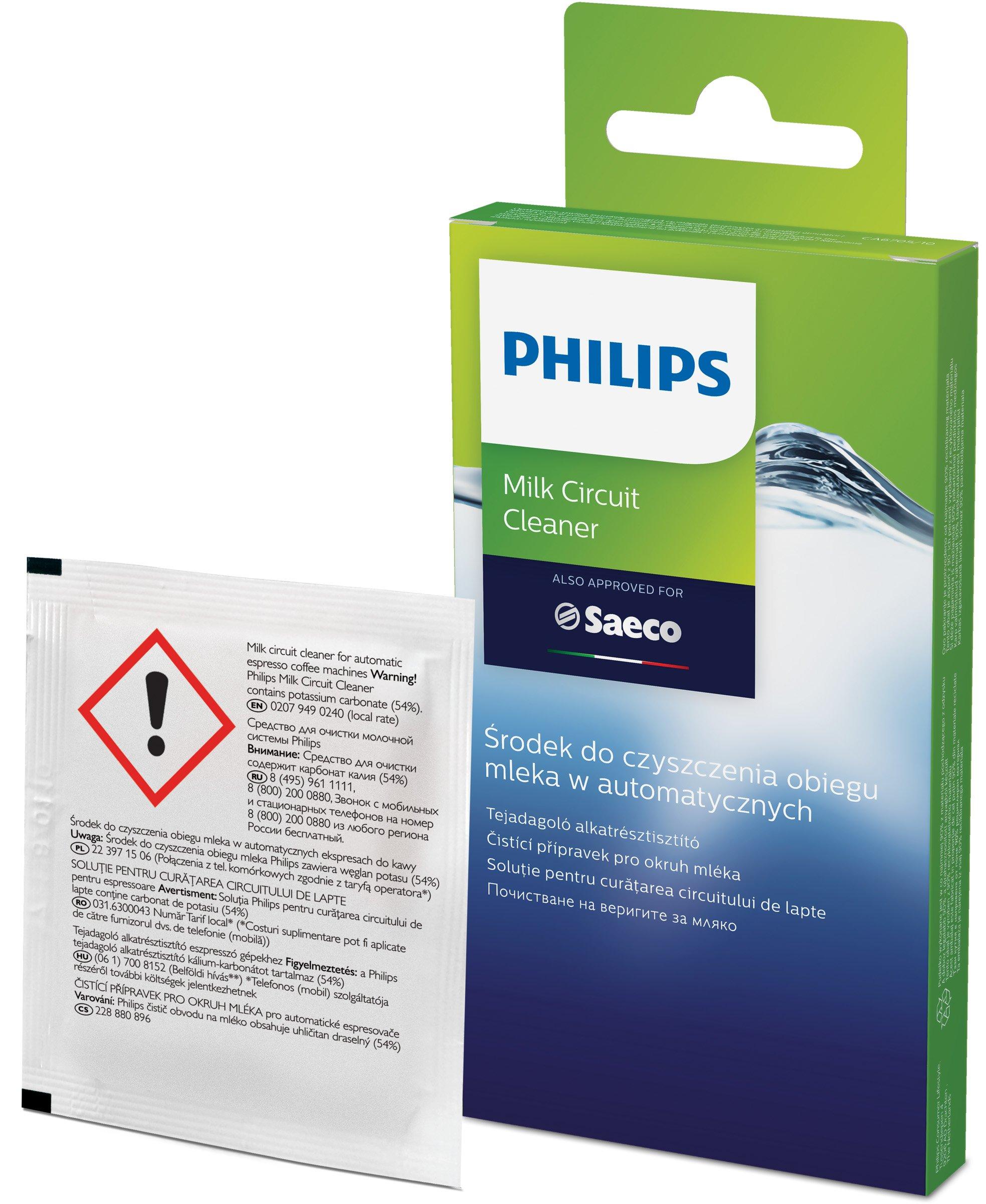 Philips Coffee Machine Milk System Cleaner Pack 6 [CA6705/10]