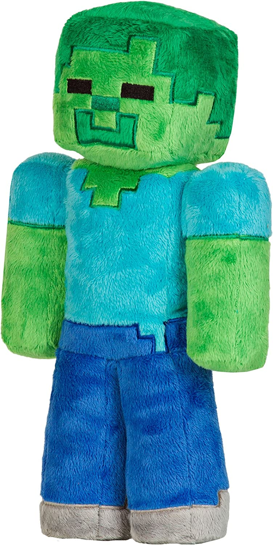 "JINX Minecraft Zombie Plush Stuffed Toy (Multi-Color, 12"" Tall)"