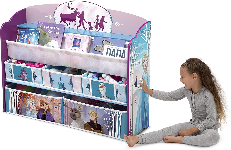 Delta Children Deluxe Toy /& Book Organizer Disney Frozen II