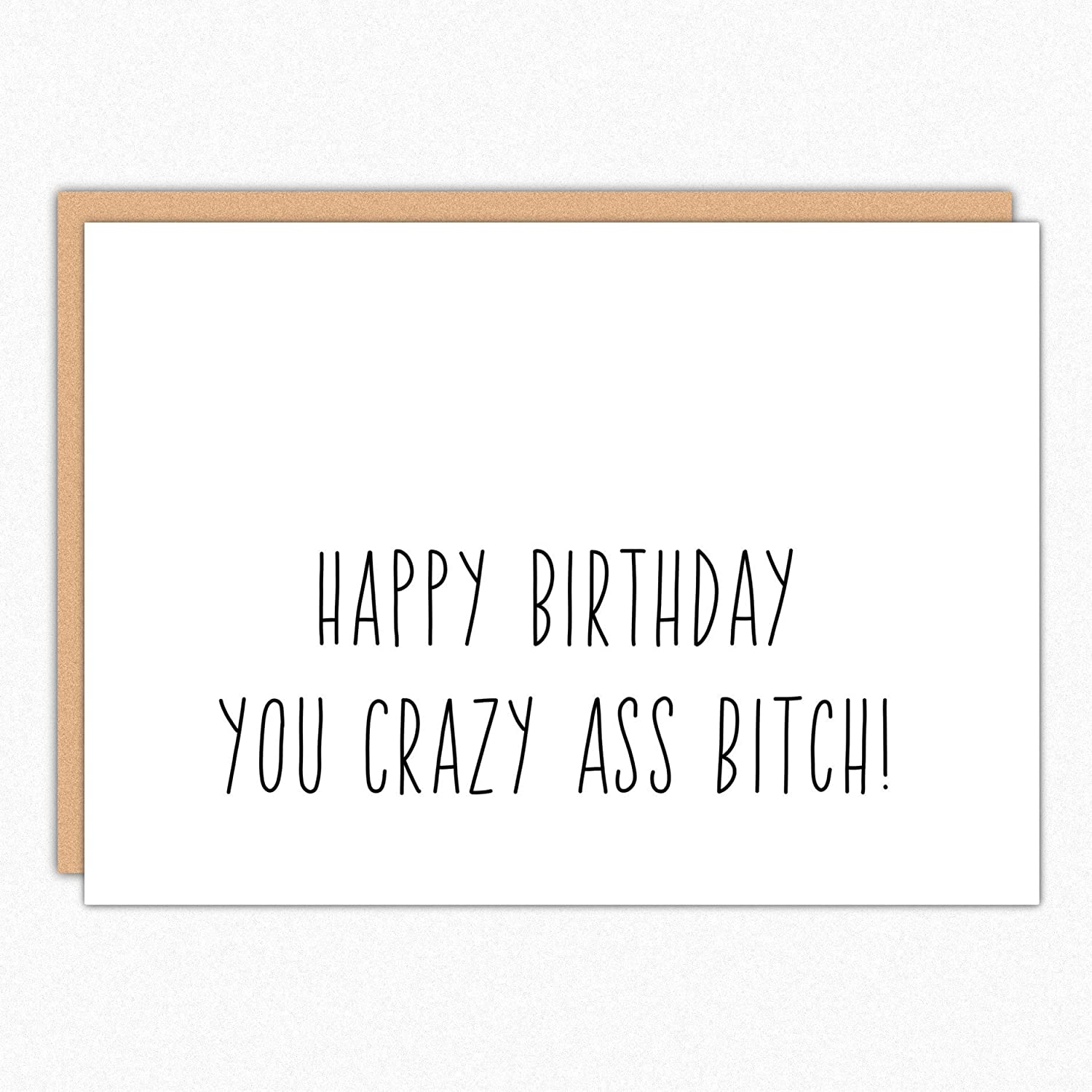 Amazon Best Friend Birthday Card 065 Crazy Ass Bitch Funny For Her Girlfriend Sister Handmade