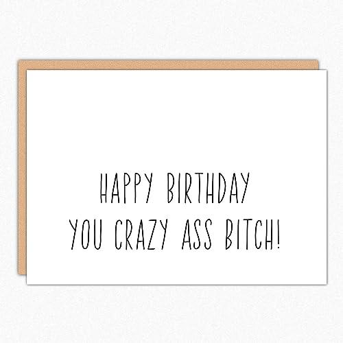 Amazon Best Friend Birthday Card 065 Crazy Ass Bitch Funny
