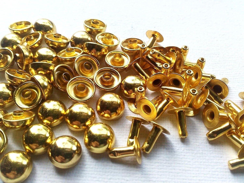 Chengyida 200/pcs Unique capuchon en forme de d/ôme rivets 8/mm Diam/ètre capuchon pour Craft Ceinture Sacs Chaussures/ /Couleur Or