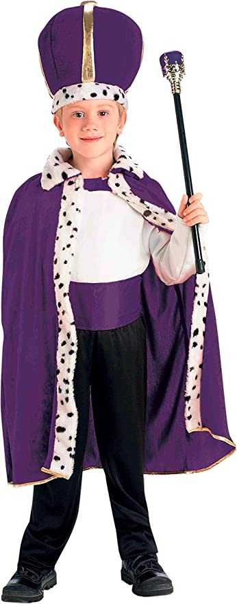 Forum Novelties King Robe and Crown Set Purple Costume, One Size